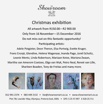 Showroom Art Gallery Exhibition in Pretoria 16 Nov to 15 Dec 2016