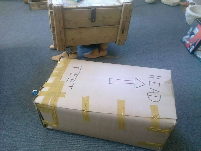 Parcel on it's way to client.