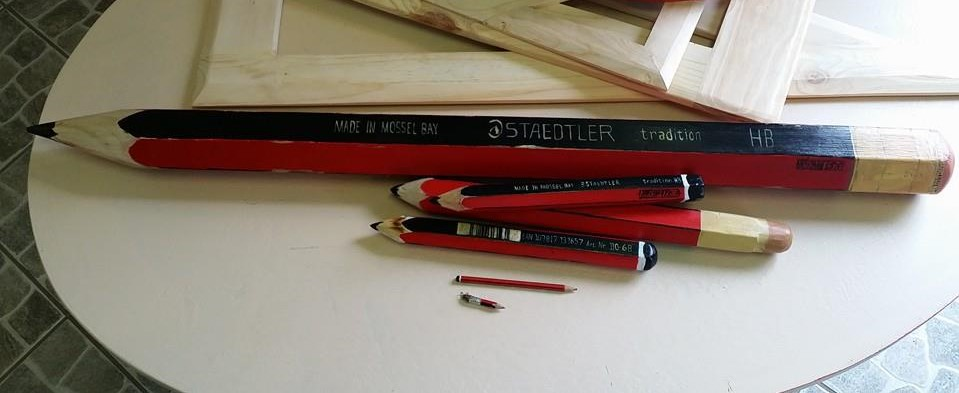Pencils big and small, red and black, colorful, round and flat, I made them all...