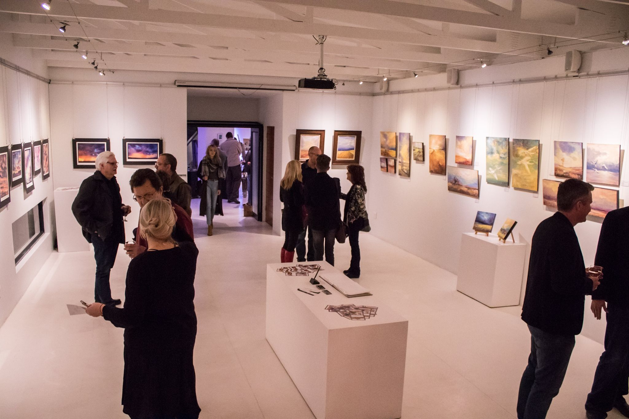 Guests at the opening night of our art exhibition.