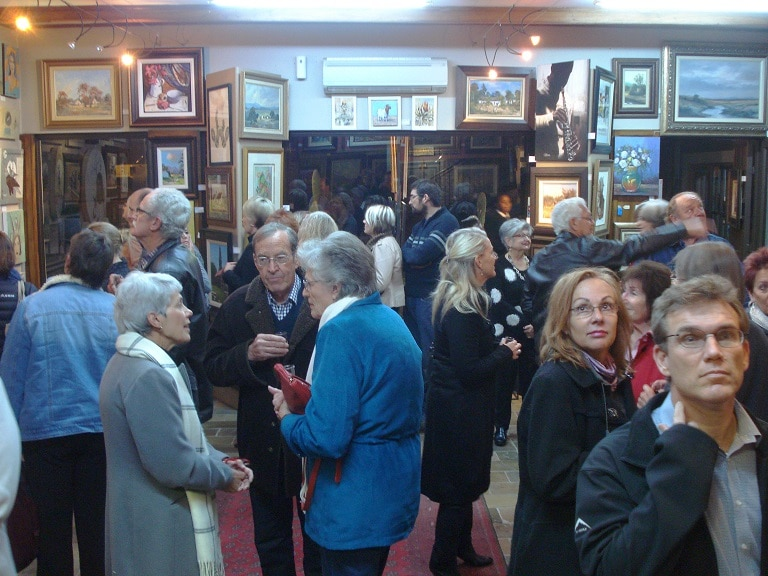 Opening evening at Kotze Art gallery