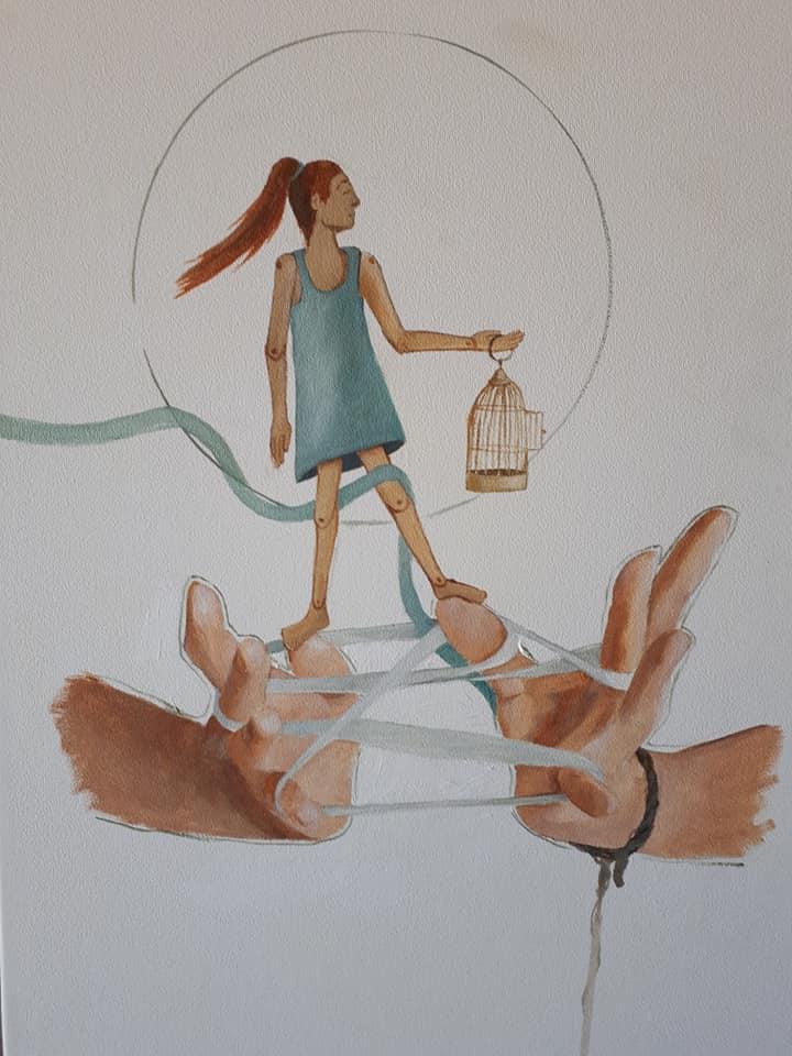 Sculpture inspired girl
