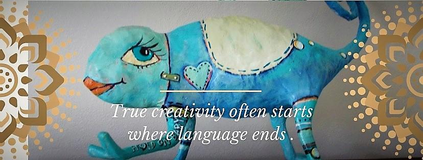 True creativity often starts were language ends