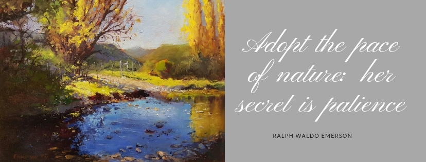 Adopt the pace of nature_ her secret is patience - Artist Kari Vorster
