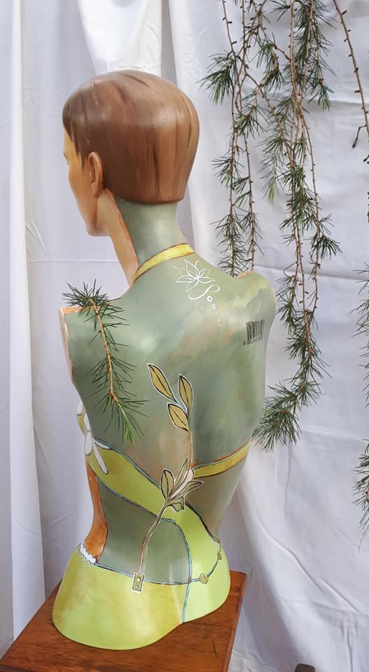 Painted Mannequin - Lotus Flower