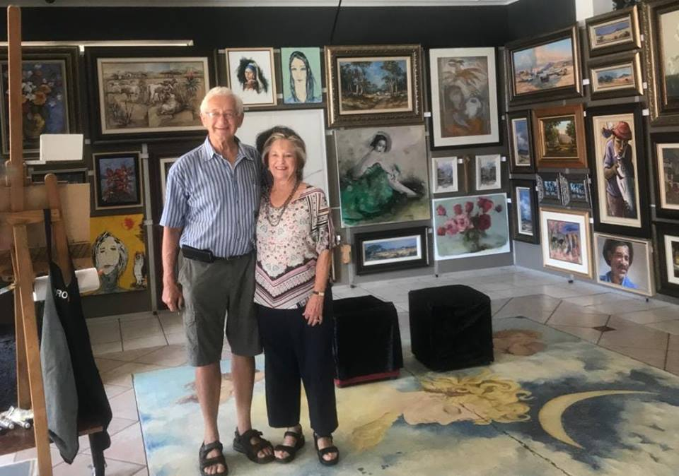 My parents Kobus and Joe in the gallery for a week