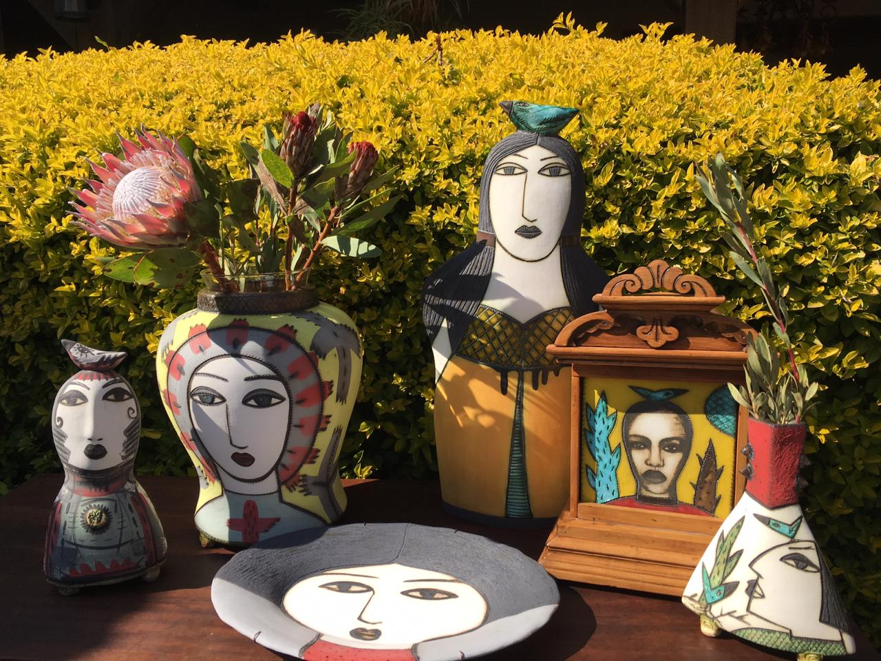 Sculptures and pottery by Charmaine Heyns