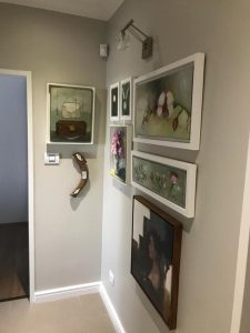 Two of my artworks in a collection of a clients classic home