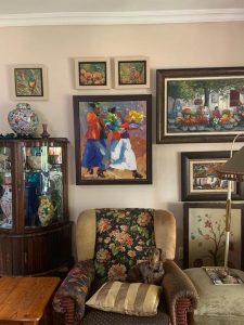 Another home of a friend of mine who collects not only investment art, but any art that speaks to her soul