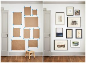 Measure out and hang your art