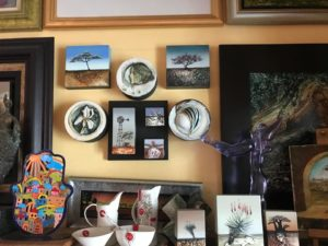 Art collection in a study