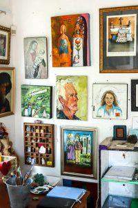 The studio of artist Hanlie Kotze