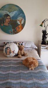 Mariaan Kotze Painting decorating a room