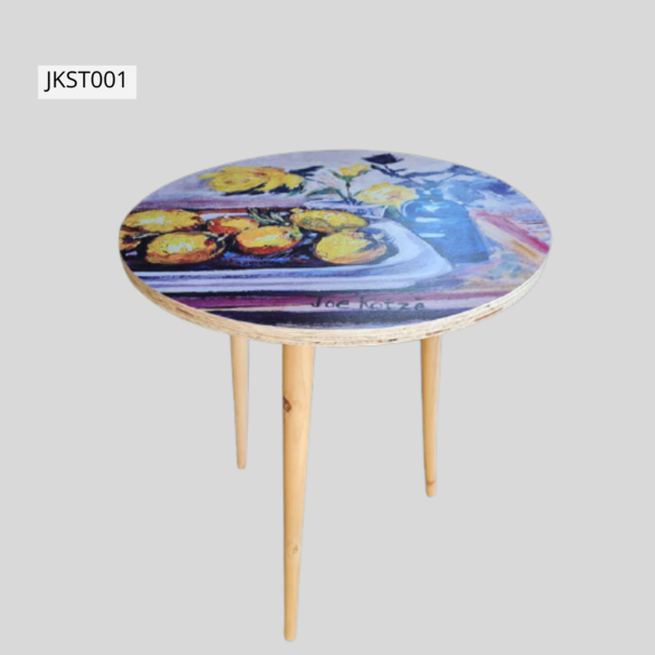 Retro style side table - JKST001 Height 73cm Top 60cm