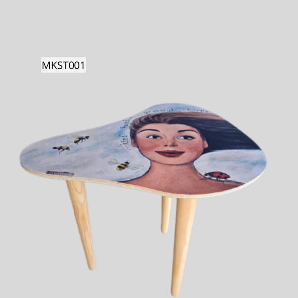 Retro style side table -MKST001 Height 42cm Top 50x31cm